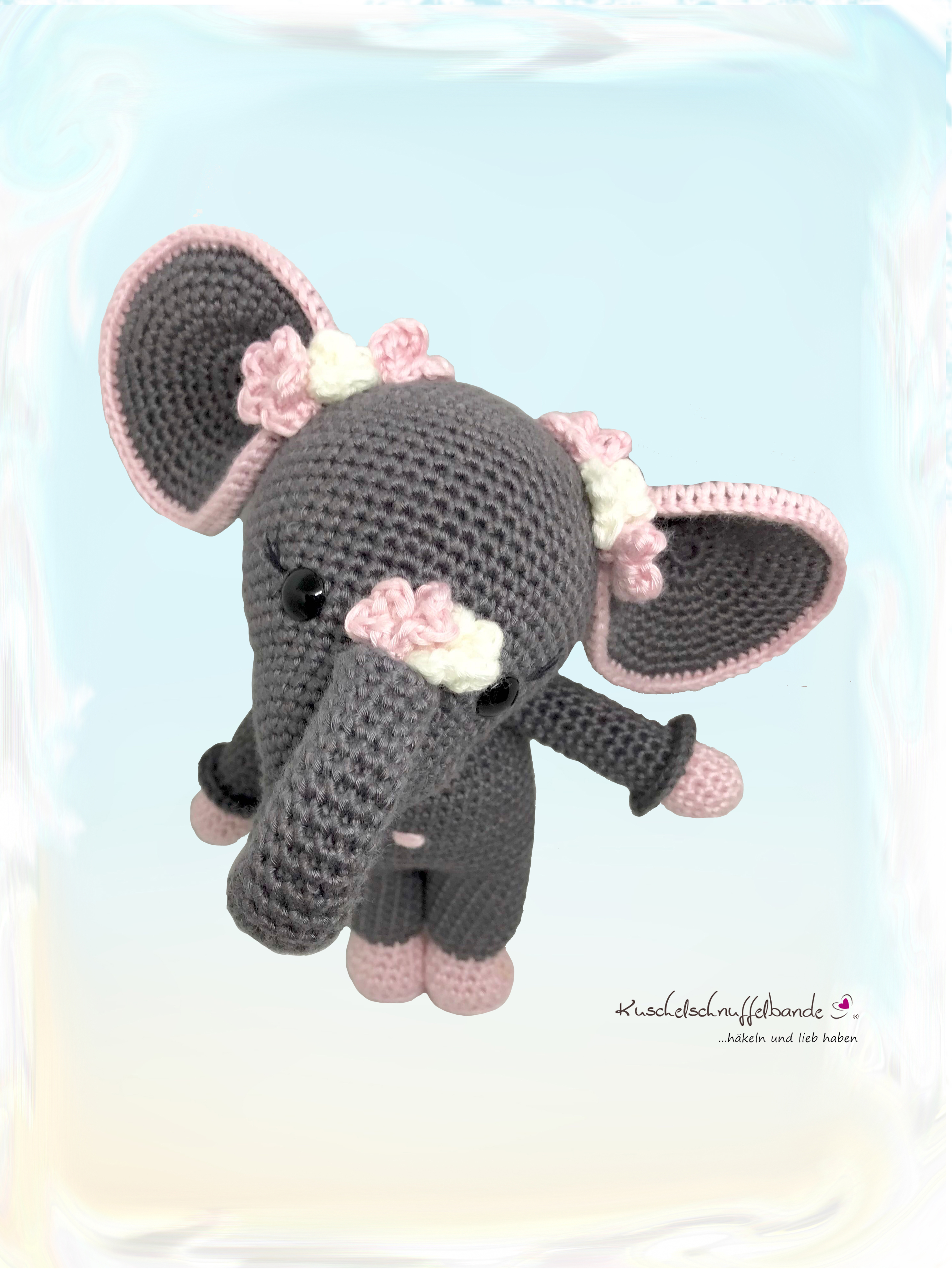 Häkelanleitung Kuschelschnuffelbande Baby Elefant Elli Amigurumi